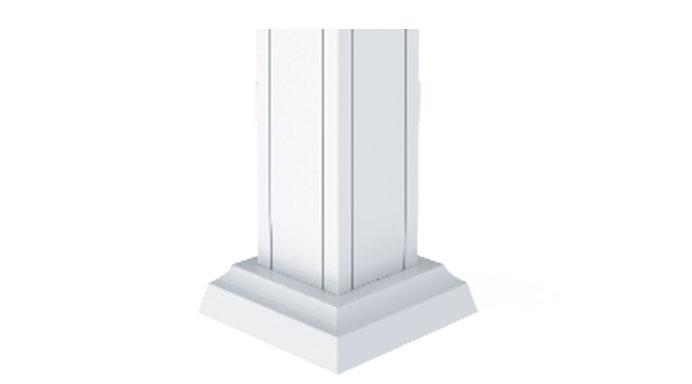 Colonnes d'aluminium
